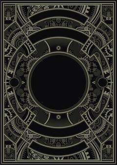 Steampunk plakatowy szablonu wektor eps