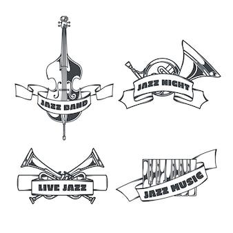 Steampunk zestaw izolowanego logo z obrazami w stylu szkicu serca mechanicznych skrzydeł i wstążkami z tekstem
