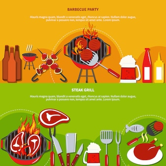 Stek grill na imprezie z grilla