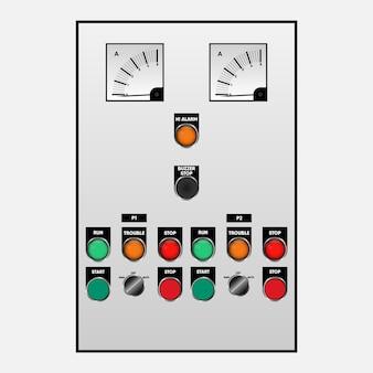 Sterownik przełącznika do awaryjnej instalacji elektrycznej