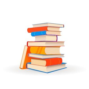 Sterta kolorowe książki na bielu