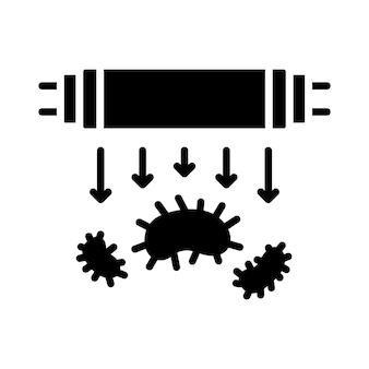 Sterylizacja światłem ultrafioletowym bakteriobójcze promieniowanie ultrafioletowe wektor