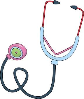 Stetoskop lekarza na białym tle apteczka pierwszej pomocy
