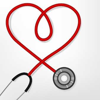Stetoskop tworząc kształt serca