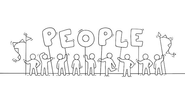 Stick figure doodle ilustracja
