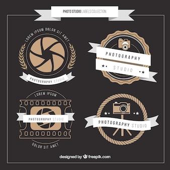 Stock odznaki vintage
