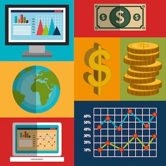 Stock projekt rynku finansowego