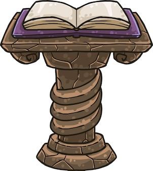 Stojak na książki z książkami