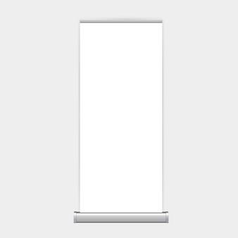 Stojak rollup xbanner na białym tle