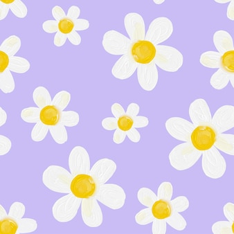 Stokrotka kwiat bzu bezszwowe tło wzór