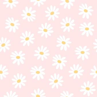 Stokrotka kwitnie bezszwowego deseniowego tło