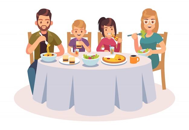 Stół do jedzenia rodziny.