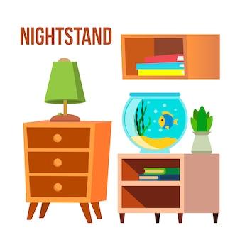 Stolik nocny, stoliki nocne, biurka cartoon