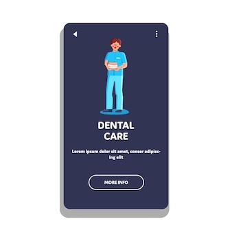 Stomatolog dentysta pracownik medyczny trzymaj szczękę