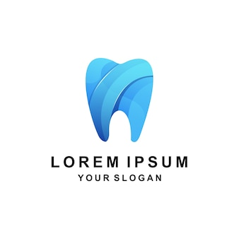 Stomatologiczne kolorowe logo