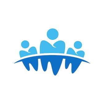 Stomatologiczny biznesowy symbol projekt
