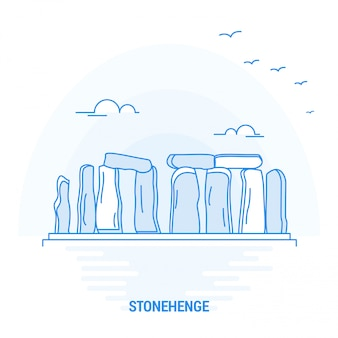 Stonehenge blue landmark