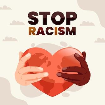 Stop rasizm ilustracja koncepcja