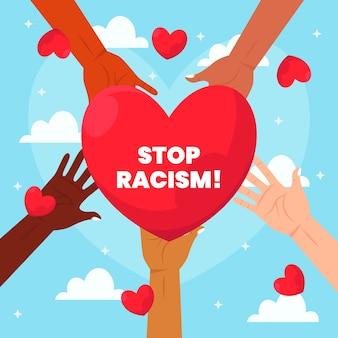 Stop rasizmowi ilustraci