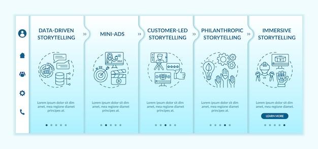 Storytelling w szablonie wprowadzającym do kampanii marketingu cyfrowego