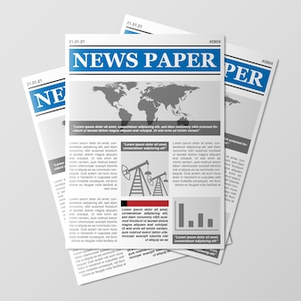 Stos gazet wiadomości ze świata magazyn stos papieru stos dzienników