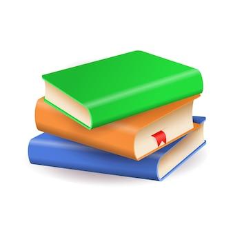 Stos kolorowych książek