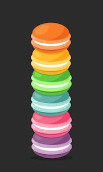 Stos kolorowych makaroników