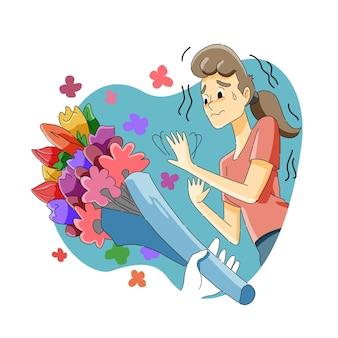 Strach przed kwiatami lub antofobia