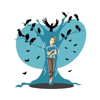 Strach przed ptakami lub ornitofobią