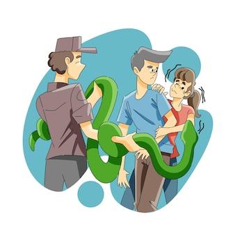 Strach przed wężem lub ofidiofobią