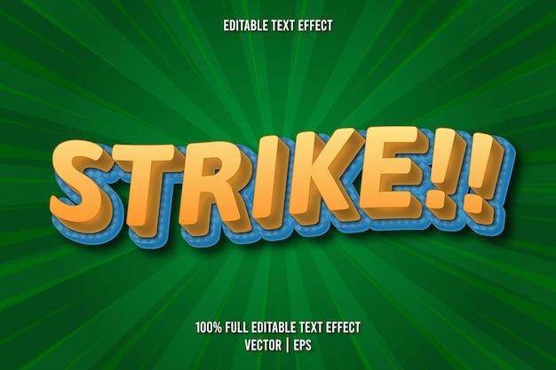 Strajk!! edytowalny styl komiksowy z efektem tekstowym