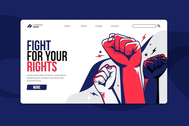 Strajk protestacyjny - strona docelowa