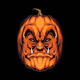 Straszna dynia na halloween