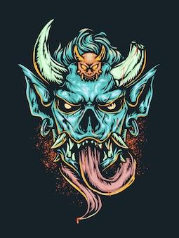 Straszna głowa demona