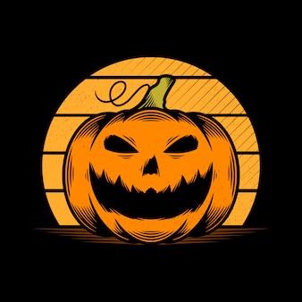 Straszna halloweenowa dynia