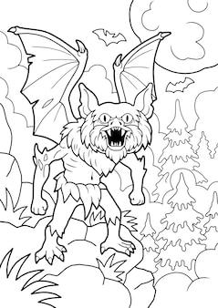 Straszna ilustracja wampira