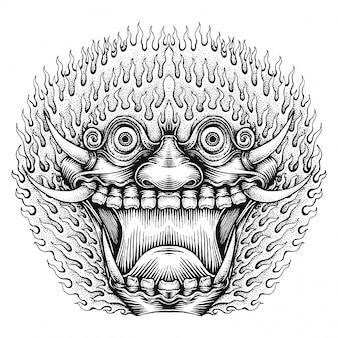 Straszna maska potwora