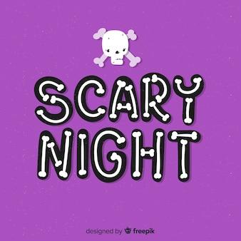 Straszna noc halloween napis tło