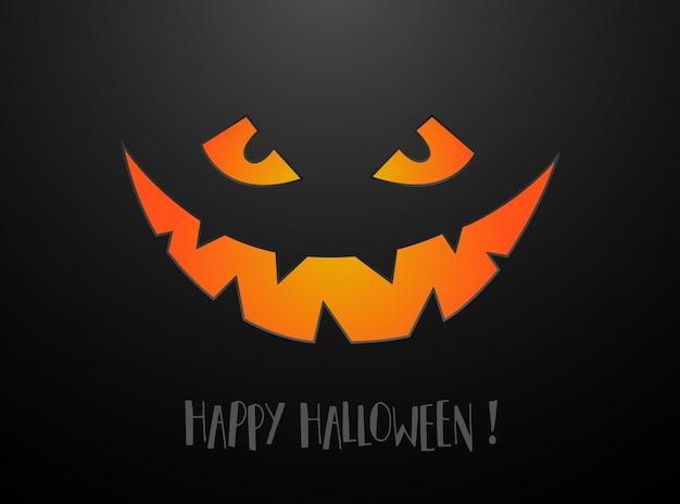 Straszna twarz na szczęśliwy plakat halloween. scary face, trick or treat design party.