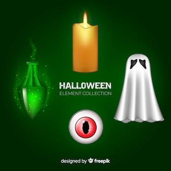 Straszne zestaw elementów halloween