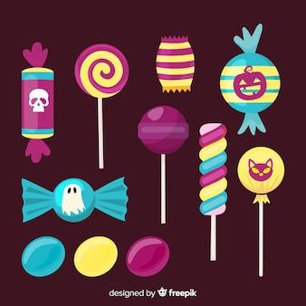 Straszny asortyment cukierków na halloween