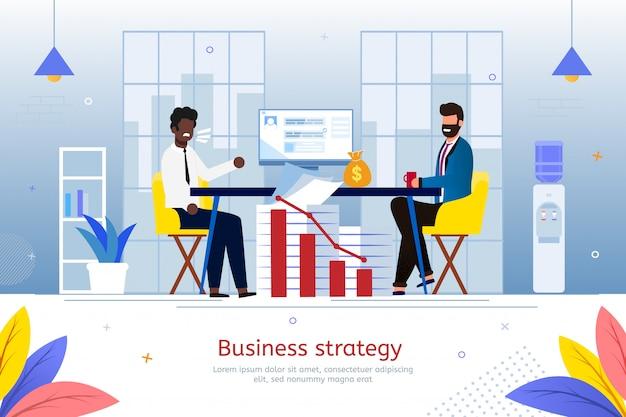 Strategia dla biznesu start flat