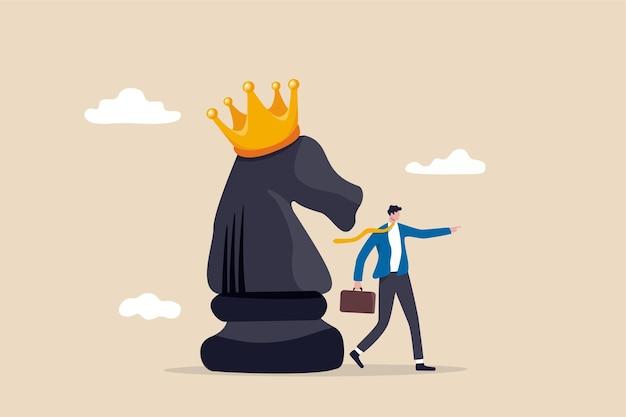 Strategia Wygrania Koncepcji Konkurencji Biznesowej Premium Wektorów