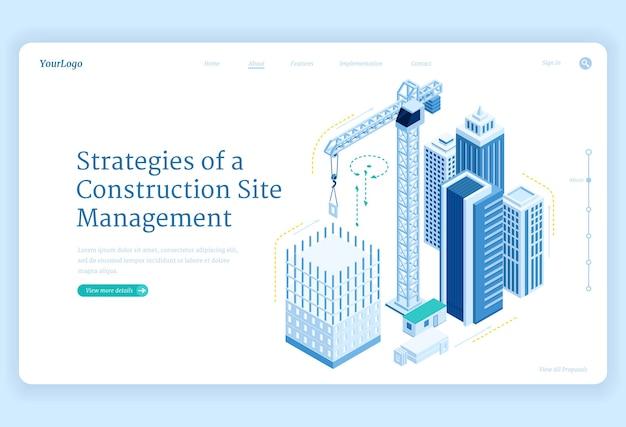 Strategie baneru zarządzania placem budowy
