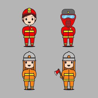 Strażacy czerwony i żółty znak