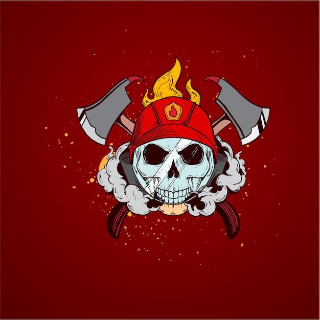 Strażak czaszki strażaka