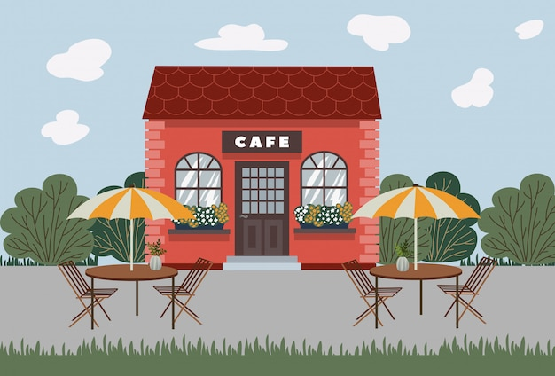 Street cafe.