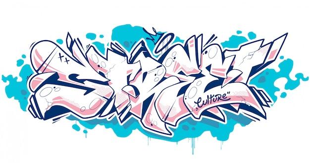 Street graffiti literowanie art