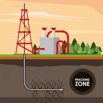 Strefa szczelinowania przemysł naftowy