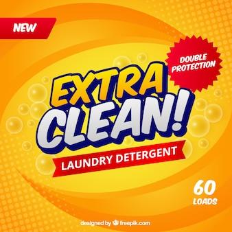 Streszczenie żółtym tle detergentu